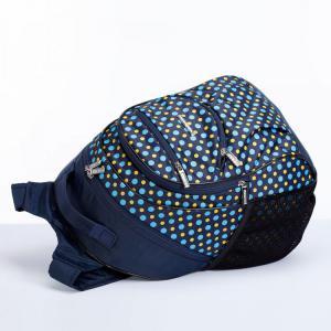 Рюкзак школьный темно-синий в горох