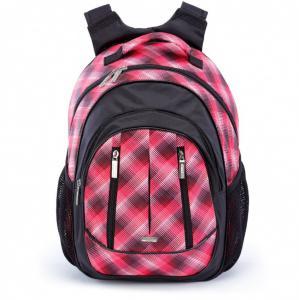 Рюкзак школьный с ортопедической спинкой размытая клетка