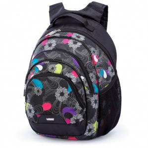 Рюкзак школьный с рисунком Цветы