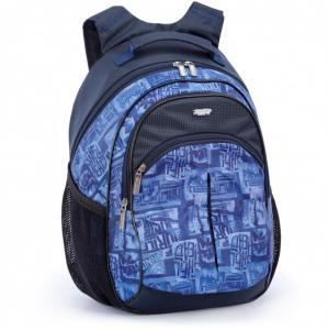 Рюкзак синий с ортопедической спинкой