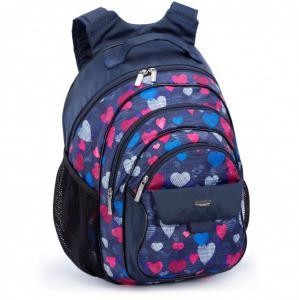 Рюкзак школьный с рисунком Сердечки