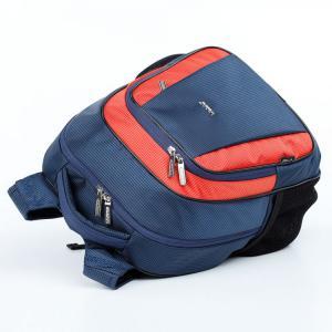 Ранец школьный синий/оранжевый