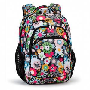 Ранец школьный с цветочным принтом