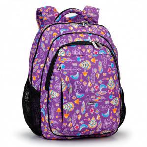 Рюкзак сиреневый с рисунком