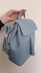 Рюкзак в светло-серой эко-коже