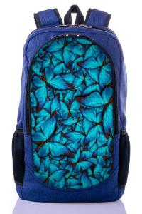 Рюкзак синий Бабочки