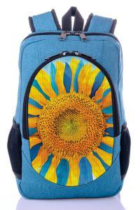 Рюкзак голубой Подсолнух
