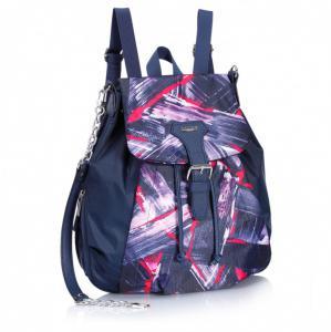 Рюкзак-сумка синяя с размытым рисунком