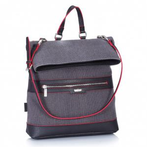 Рюкзак-сумка серый