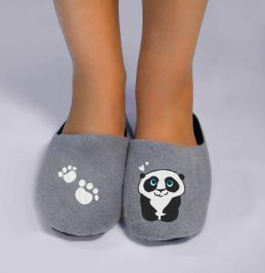 Тапочки серые Панда