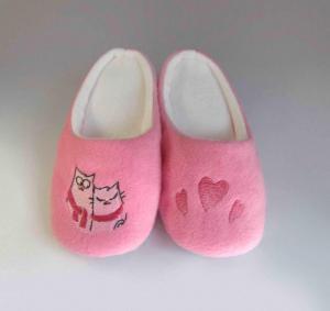Тапочки розовые Влюбленные котики