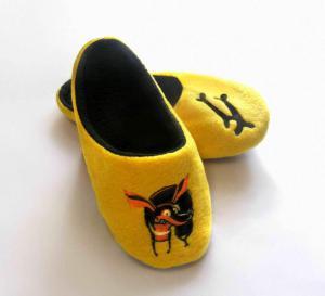 Тапочки желтые собачка