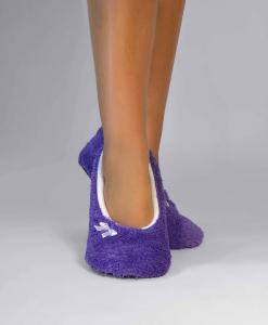 Тапочки-балетки фиолетовые