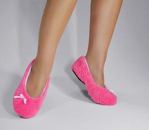 Тапочки-балетки розовые