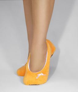 Тапочки-балетки желтые