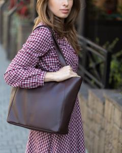 Средняя сумка-шоппер шоколад