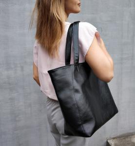 Средняя сумка-шоппер черная