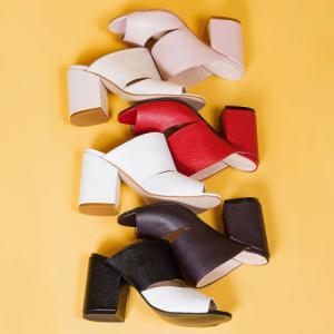 Босоножки кожаные на 9см каблуке в различных расцветках кожи