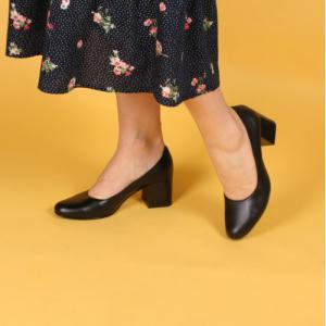 Удобные туфли кожаные черные