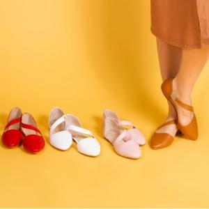 Легкие кожаные балетки в различных цветах