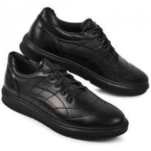 Кеды стеганные черные кожаные