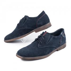 Туфли синие замшевые на шнурках