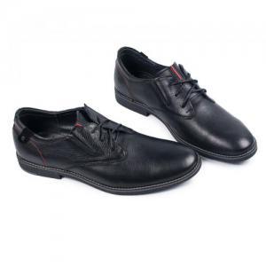 Туфли черные кожаные на шнурках