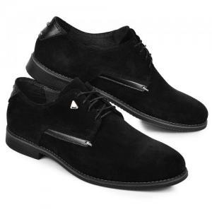 Туфли Соло черные замшевые
