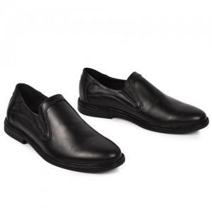 Туфли-мокасины черные в коже и замше