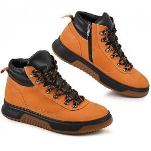 Ботинки желтый нубук