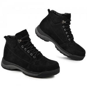Ботинки в черные замшевые