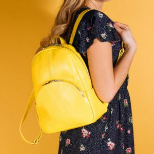 Рюкзак в желтой коже