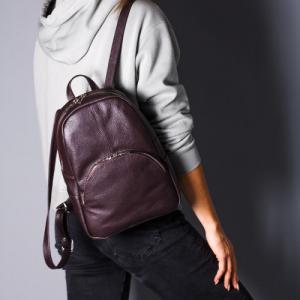 Рюкзак в красной коже