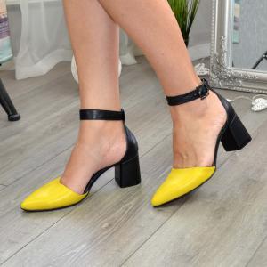Туфли с удлиненным носиком в различных цветах кожи и замши