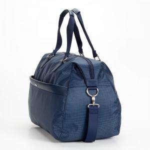 Дорожная сумка овальная синяя