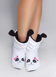 Флисовые тапочки-сапожки Панда