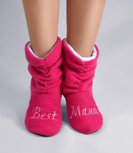 Флисовые тапочки-сапожки Бест мама